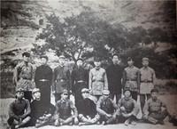 参加井岗山斗争的部分同志在陕北合影