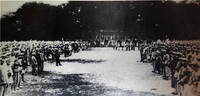 1931年11月,中央工军民主政府主席毛泽东给红军授旗